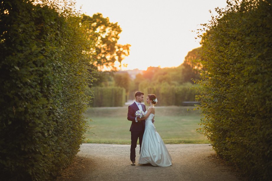 schonbrunn park zapad slnka svadba